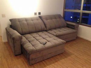 Pé de Sofá - Depoimento da cliente Valeria sobre o seu sofá Clarence