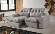 Sofá Aspen Retrátil e Reclinável com Pillow Top e molas e várias cores e tecidos disponíveis
