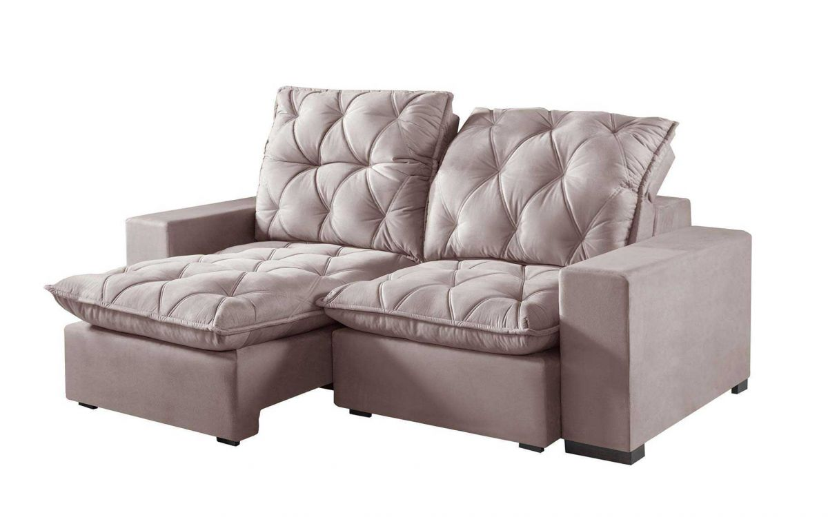 Sofá Império Retrátil e Reclinável com Pillow top e molas e Várias cores e tecidos