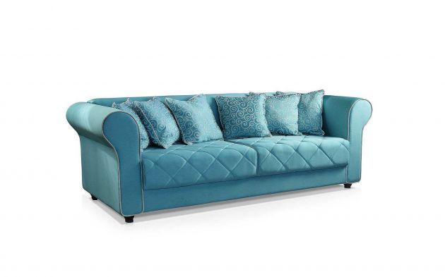 Sofá Klee Living com 6 Almofadas decorativas