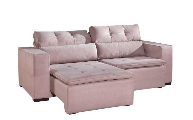 Sofá Vizion Reclinável e Retrátil com 1.80m de abertura Várias cores e tecidos